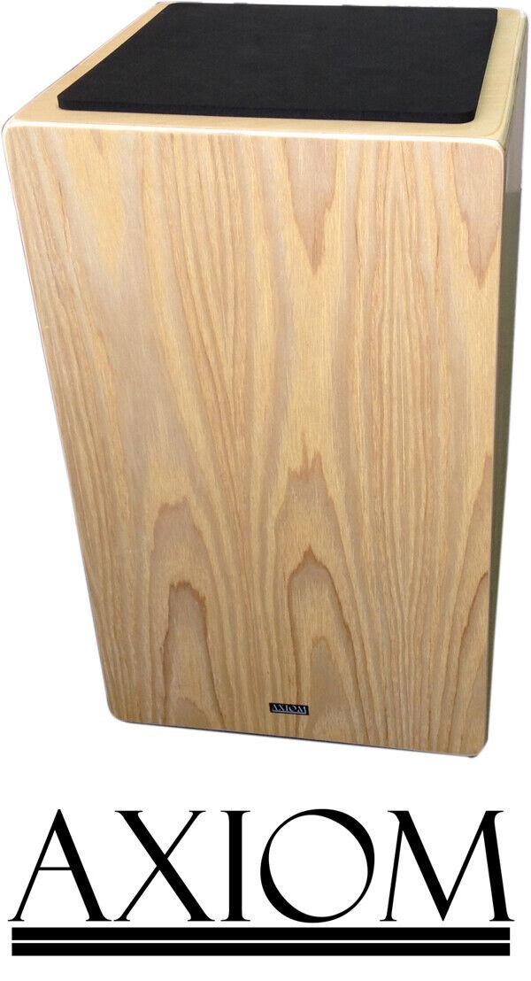 Axiom 50cm Full Größe Cajon Wooden Rhythm Box Drum w  Padded Carry Bag - Silkwood