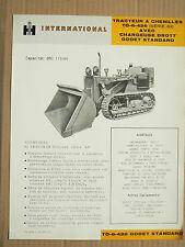 Prospectus IH INTERNATIONAL Tracteur à Chenilles TD6  MAC CORMICK Brochure TP