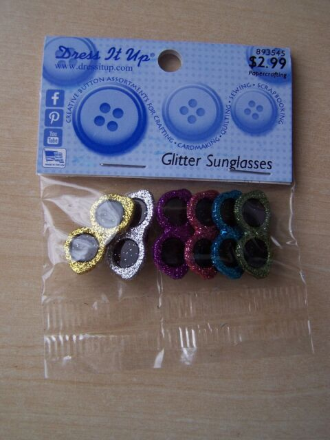 Dress it Up Buttons Glitter Sunglasses 4429 Spectacles Shades Embellishments