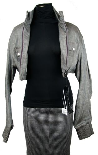 42 Size Nwt Black Rare Label Eu Jacket Dorset Blouson Belstaff Linen Short FgqzaOvn