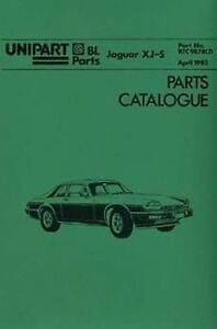 Image Is Loading JAGUAR XJS 1982 Car Parts Manual RTC 9878CD