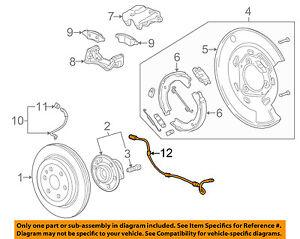 cadillac gm oem 10 15 srx abs anti lock brakes rear speed sensor Disc Brake Diagram image is loading cadillac gm oem 10 15 srx abs anti