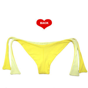 1d05ec2aae3 Image is loading Brazilian-Cut-Bikini-Bottom-Seamless-Cheeky -Thong-Scrunchie-