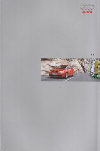 Audi s3 prospectus brochure 52 pages 02-1999