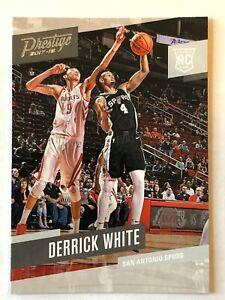 Derrick-White-rookie-card-2017-18-Panini-Prestige-178-San-Antonio-Spurs