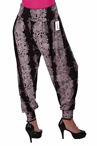 Womens Ladies Full Aztec Print Slouchy Casual Harem Fashion Trousers Pants