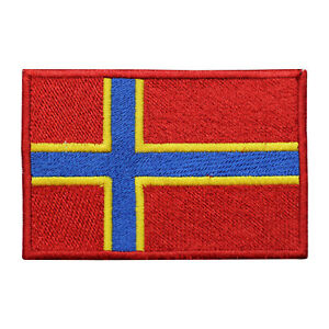 Orkney County Flag Patch Iron On Patch Sew On Badge Embroidered Patch