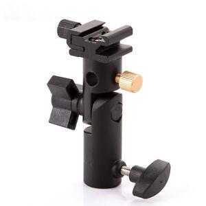 E-Type-Studio-Flash-Cold-Shoe-Light-Stand-180-Swivel-Bracket-Umbrella-Holder-US