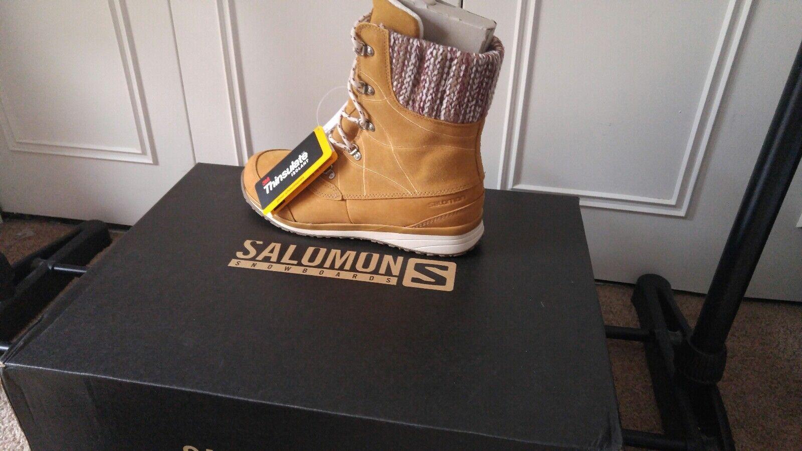 Salomon Womens Hime Mid Ltr Beige. Size 8.5 US