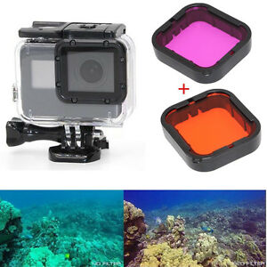 2Pcs-For-GoPro-Hero5-SuperSuit-Housing-Case-Lens-Filter-Aqua-Protecter