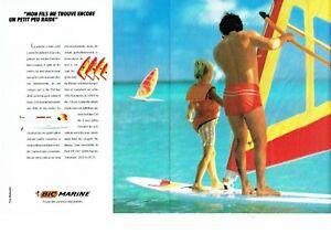 Publicite Advertising 087 1985 La Planche A Voile Bic Marine 2pages Ebay