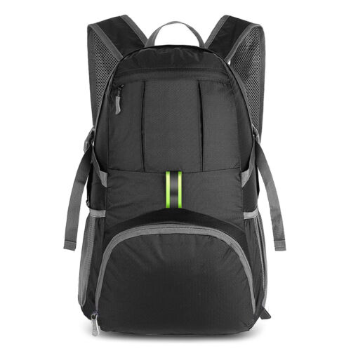 Lightweight Packable Travel Hiking Backpack Daypack 35L Camping Carabiner Clip