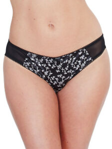 Lepel Floral Satin Mid Rise Brief 440720 Knickers Sheer Mesh Sexy ... dbd109e51