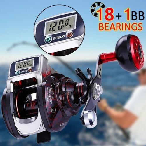 PULLINE 18+1 BB Baitcasting Spinning Fishing Reel 7.1:1 Saltwater Baitcaster