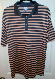 Callaway-Golf-Mens-Black-Stripes-Polo-Shirt-Size-XL
