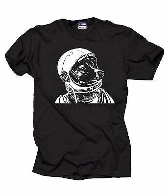 Space Dog Laika T-Shirt Russian Russia russischer Soviet Union Astronaut