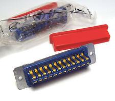 2x 24-poliger Amphenol-Stecker für Meßgeräte und Funktechnik, HP, Tektronix, etc