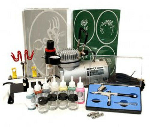 Complete Gravity Feed Dual Action Airbrush 20 pcs. KIT
