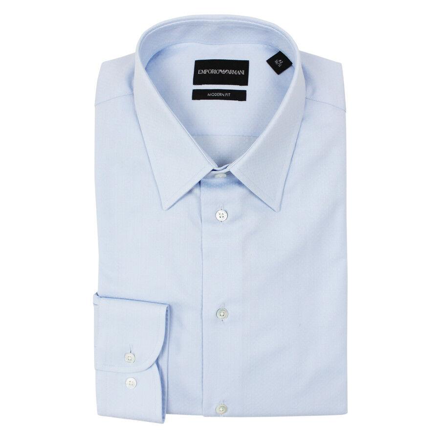 EMPORIO ARMANI Modern Fit Camicia Azzurra Colletto 15.5   NUOVO CON ETICHETTE  RRP