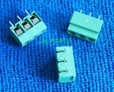 20pcs 5mm Pitch 3 pin 3 way Straight Pin PCB Screw Terminal Blocks Connector