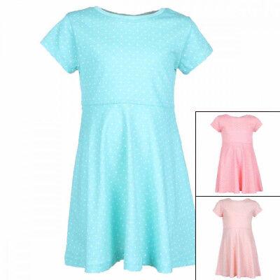 Süßes Mädchen Off-Shoulder-Kleid,mittelblau//weiß mit Print,Gr.164//170