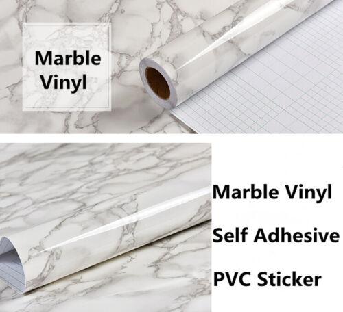 White Marble Grains Vinyl Wrap Sticker For Car Table Furniture Laptop Mobile
