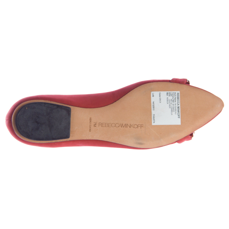 REBECCA MINKOFF Women's Isabeau Brick Nubuck Pointed Toe Flats Flats Flats Sz 7  250 NEW 089647