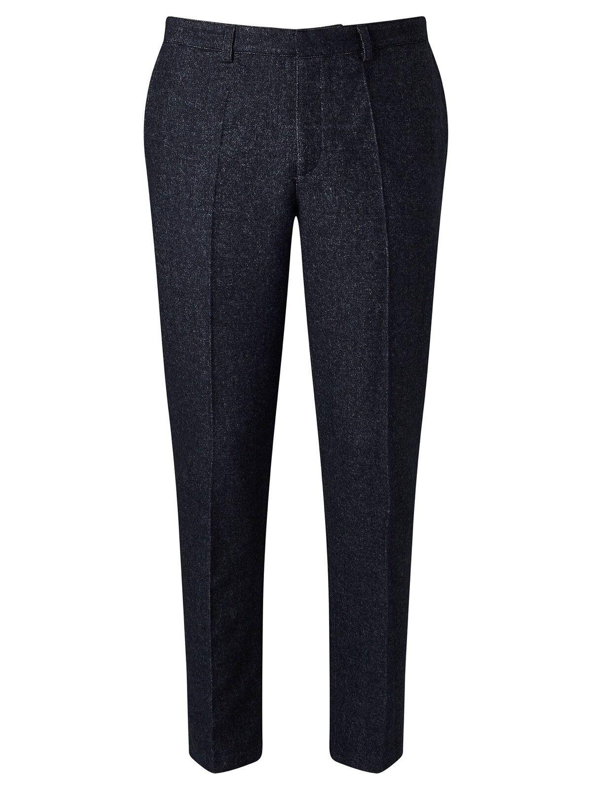 Libertine-Libertine Tell Transworld Wool Trousers Dark Navy LARGE X LARGE