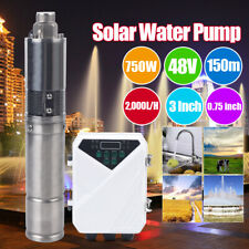 3inch Dc Solar Water Bore Well Pump 48v 750w Mppt Controller Durable Submersible