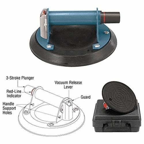 """CRL 8"""" Pump-Action Vacuum Lifter Glass Granite Slabs Up To 125lbs"""