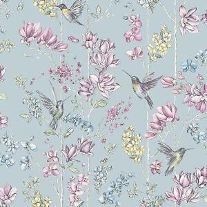 Floral-Breloque-Colibri-Papier-Peint-Rouleaux-Canard-uf-Holden-12391