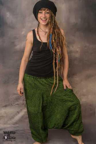 WOOLEN ALI BABA HAREM Trousers Unisex Psytrance Festival Hippy Pantaloon