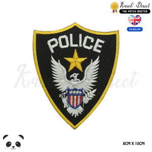 POLICE-Department-USA-Embroidered-Iron-On-Sew-On-Patch-Badge-For-Clothes