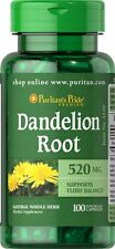 Dandelion Root 520 mg x 100 Capsules Puritan's Pride - 24HR DISPATCH