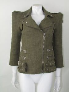 Balmain-Green-Blazer-Jacket-Size-38-UK-10
