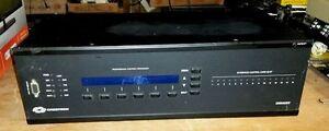 Crestron-CNRACKX-integrated-control-system-w-3-CNXVTC-3-amp-2-CNXCOM-2-cards