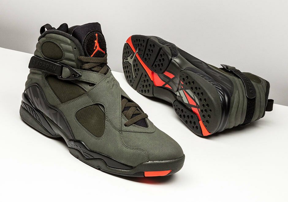 2017 Nike Air Jordan 8 VIII Take Flight Olive Undefeated Size 12.5. 305381-305