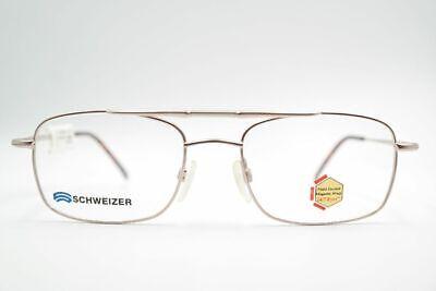 KüHn Vintage Schweizer 1080 53[]19 140 Silber Braun Oval Brille Eyeglasses Nos