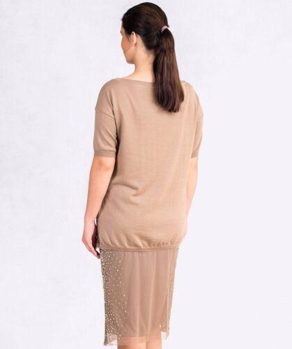 Paillettes Size Plus cotone 14 325 Splendida con 16 Nwt Top 18 in paillettes Donna Italian xRqStUwwgX