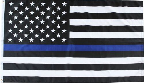 Thin Blue Line Police Grommet Flag Emergency Services 3/' x 5/' Briarwood Lane