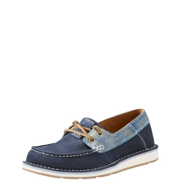 Ariat Castaway Womens Footwear Shoe - Navy Ice Blue All Sizes UK 7 ... cebda3a626