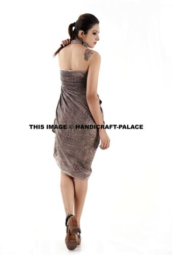 Women Swimwear Beachwear Celtic Print Sarong Dress Indian Cotton Pareo S to XL