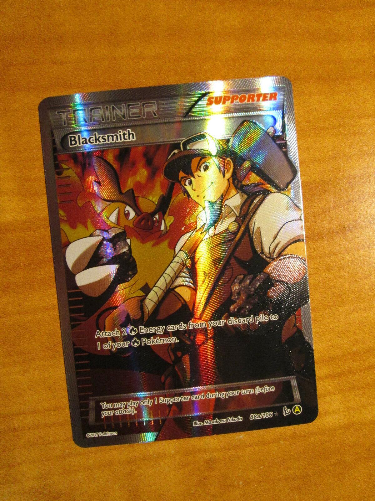 Blacksmith Full Art NM Flashfire 88a//106 Pokemon TCG