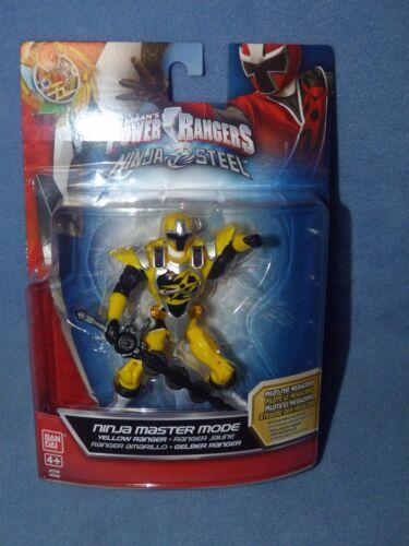 Power Rangers Ninja Acier 12.5 cm Maître Ninja Mode Jaune Ranger-Neuf