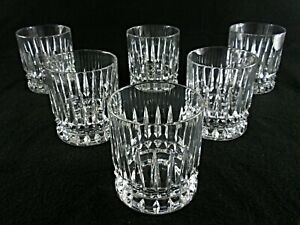 Rare-Antique-BACCARAT-Finest-Flawless-Crystal-6-x-Whiskey-Tumbler-w-Deep-Cut