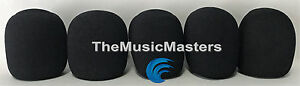 NEW-5-Pack-Black-HQ-Stage-Microphone-Windscreen-Filters-Covers-Protectors-VWLTW