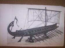 GREEK row sail vessel ship plans