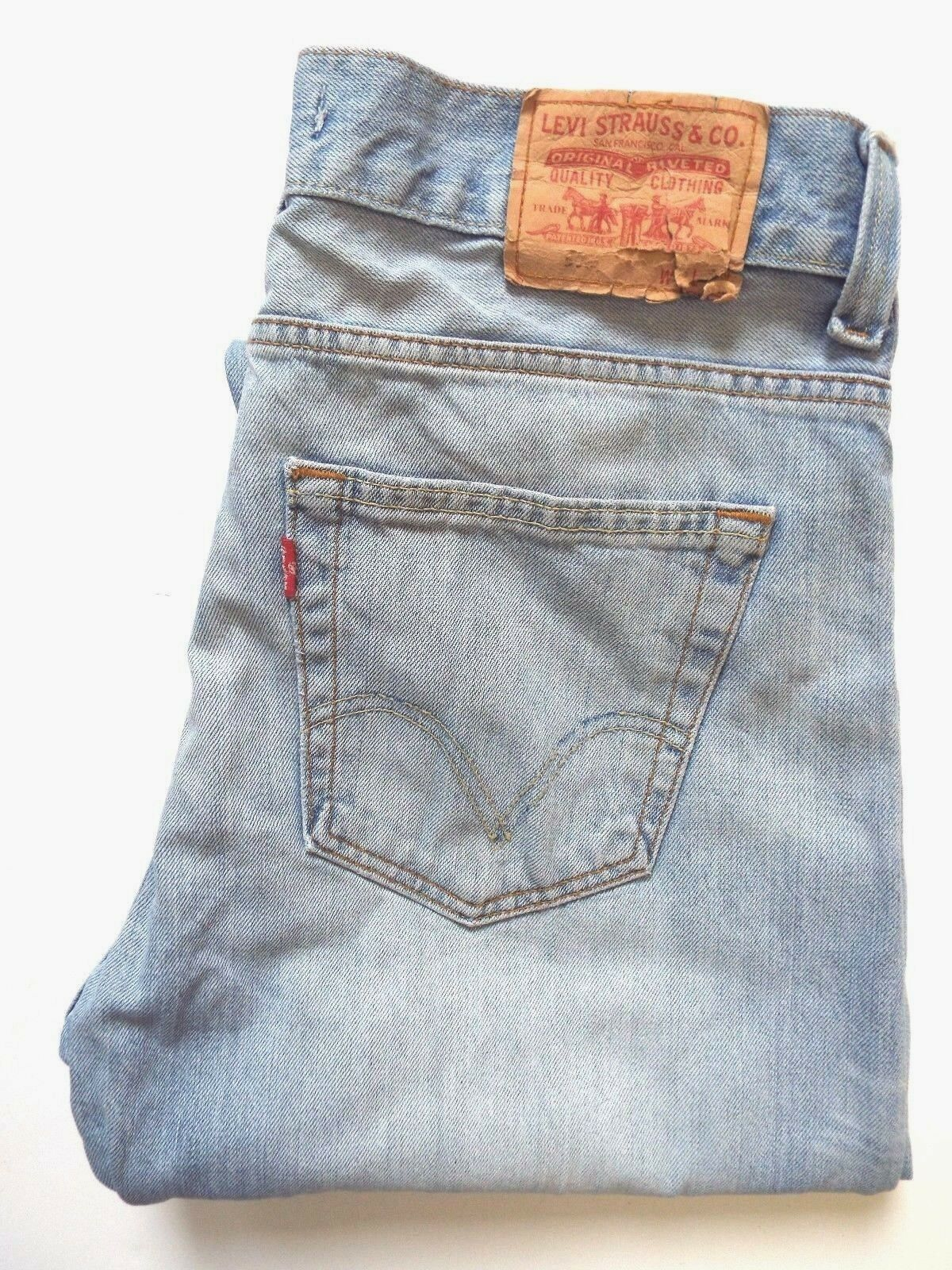 Jeans Levis 506 Da Uomo Standard Fit Straight W36 L34 Blu