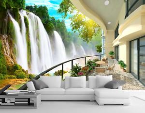 3D Waterfall Sunlight 341 Paper Wall Print Wall Decal Wall Deco Indoor Murals