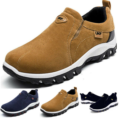 Mens /& Boys Slip On Trainers Casual Hiking Walking Sneaker Shoes Size UK 6.5-9.5
